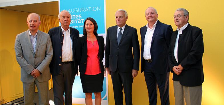 Inauguration du siège de Nantes Habitat en présence d'anciens Présidents