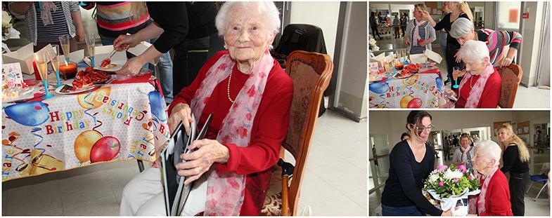 Yvonne, centenaire à la Ville en Briques